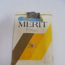Paquetes de tabaco: PAQUETE DE TABACO. MARCA MERIT FILTER. VACIO. VER FOTOS. Lote 112841867