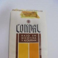 Paquetes de tabaco: PAQUETE DE TABACO. MARCA CONDAL. BAJO EN NICOTINA Y ALQUITRAN. VACIO. VER FOTOS. Lote 112841947