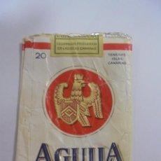 Paquetes de tabaco: PAQUETE DE TABACO. MARCA AGUILA TINERFEÑA. EXTRA FILTRO. VACIO. VER FOTOS. Lote 112842035