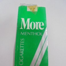 Paquetes de tabaco: PAQUETE DE TABACO. MARCA MORE MENTHOL. U.S.A. VACIO. VER FOTOS. Lote 112842091