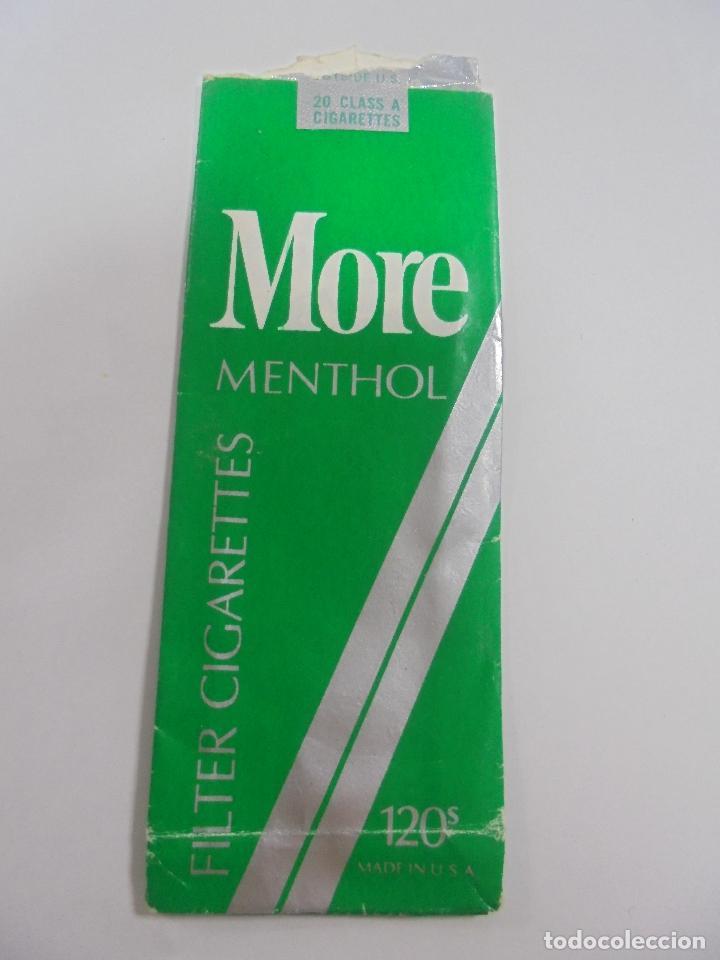Paquetes de tabaco: PAQUETE DE TABACO. MARCA MORE MENTHOL. U.S.A. VACIO. VER FOTOS - Foto 2 - 112842091