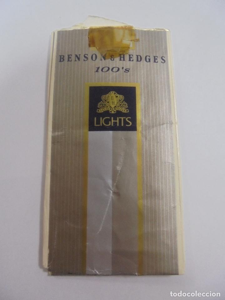 Paquetes de tabaco: PAQUETE DE TABACO. MARCA BENSON & HEDGES. LIGHTS. VACIO. VER FOTOS - Foto 2 - 112842727
