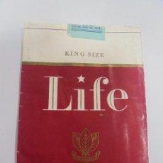 Paquetes de tabaco: PAQUETE DE TABACO. MARCA LIFE. FILTER TIP. VACIO. VER FOTOS. Lote 112845923