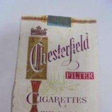 Paquetes de tabaco: PAQUETE DE TABACO. MARCA CHESTERFIELD FILTER. U.S.A. VACIO. VER FOTOS. Lote 112845939
