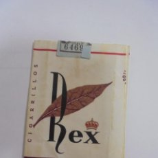 Paquetes de tabaco: PAQUETE DE TABACO. MARCA REX. EXTRA-FILTRO. VACIO. VER FOTOS. Lote 112849279