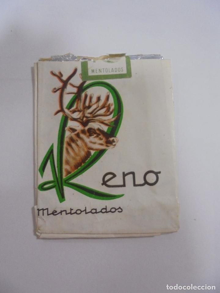 PAQUETE DE TABACO. MARCA RENO MENTOLADOS. VACIO. VER FOTOS (Coleccionismo - Objetos para Fumar - Paquetes de tabaco)
