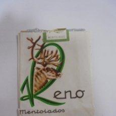 Paquetes de tabaco: PAQUETE DE TABACO. MARCA RENO MENTOLADOS. VACIO. VER FOTOS. Lote 112849339