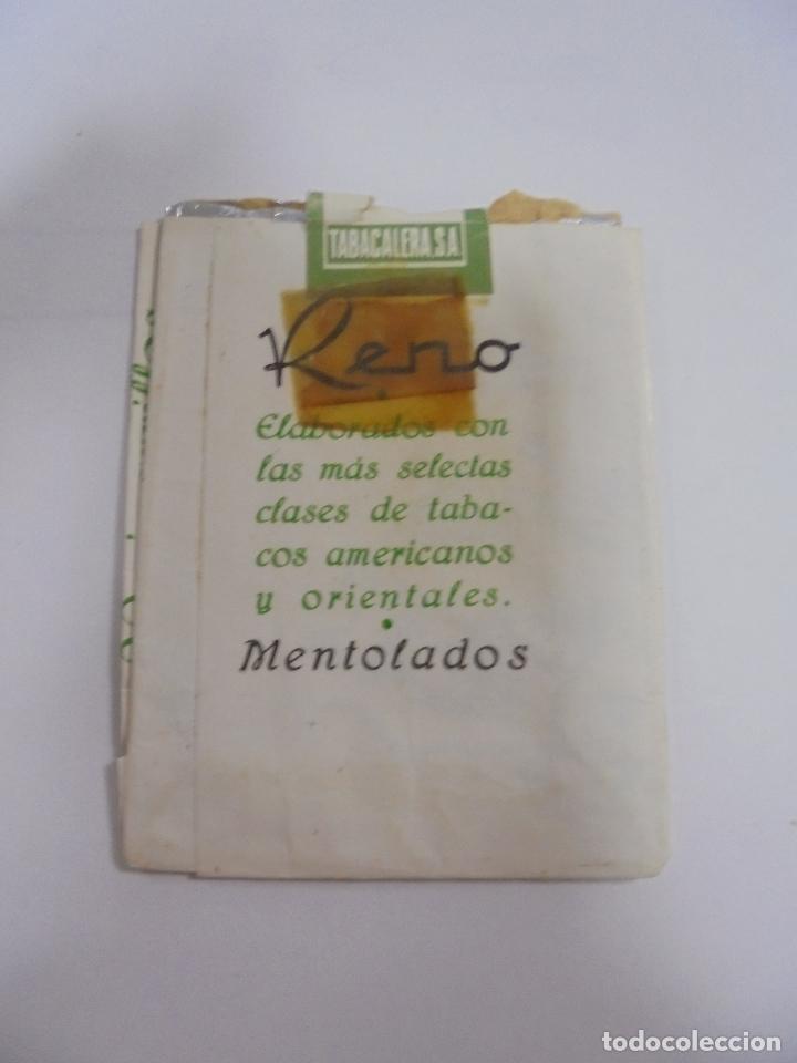 Paquetes de tabaco: PAQUETE DE TABACO. MARCA RENO MENTOLADOS. VACIO. VER FOTOS - Foto 2 - 112849339