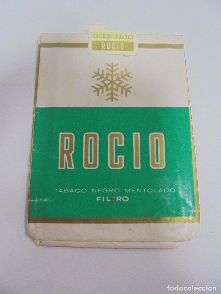 PAQUETE DE TABACO. MARCA ROCIO. TABACO NEGRO MENTOLADO. VACIO. VER FOTOS (Coleccionismo - Objetos para Fumar - Paquetes de tabaco)
