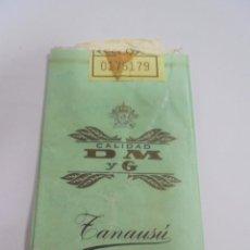 Paquetes de tabaco: PAQUETE DE TABACO. MARCA ZANAUSU. CALIDAD D M Y G. VACIO. VER FOTOS. Lote 112849663