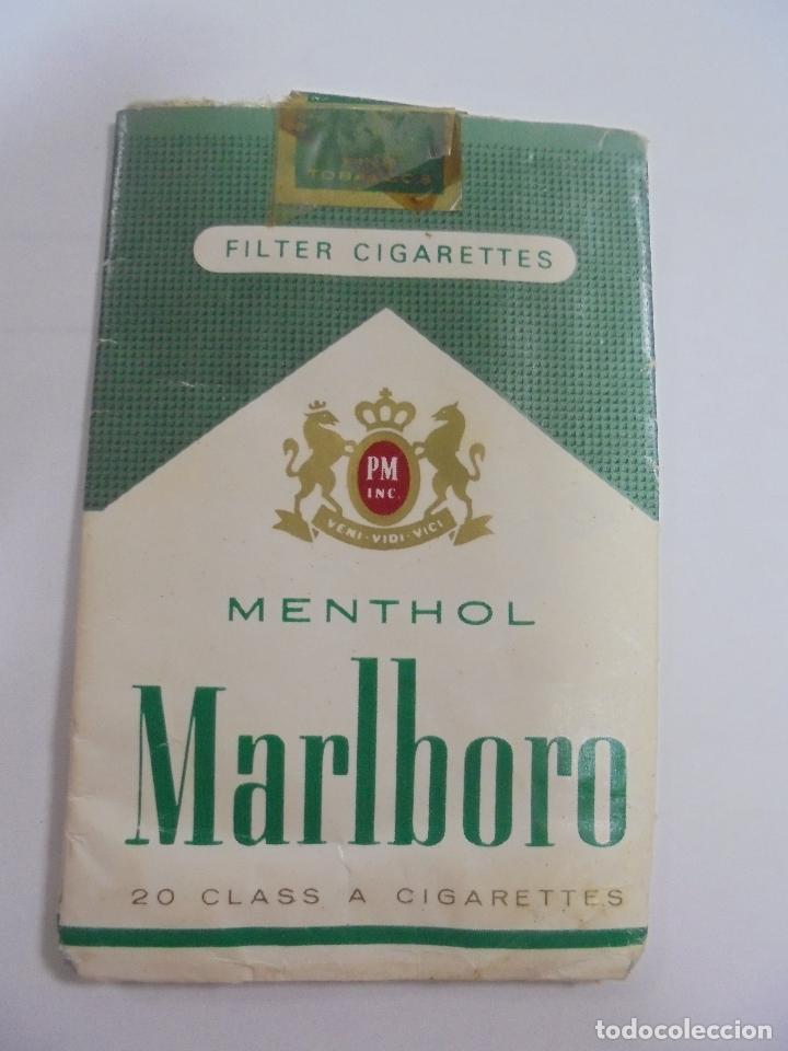 PAQUETE DE TABACO. MARCA MALBORO MENTHOL. VACIO. VER FOTOS (Coleccionismo - Objetos para Fumar - Paquetes de tabaco)