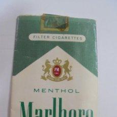 Paquetes de tabaco: PAQUETE DE TABACO. MARCA MALBORO MENTHOL. VACIO. VER FOTOS. Lote 112849675