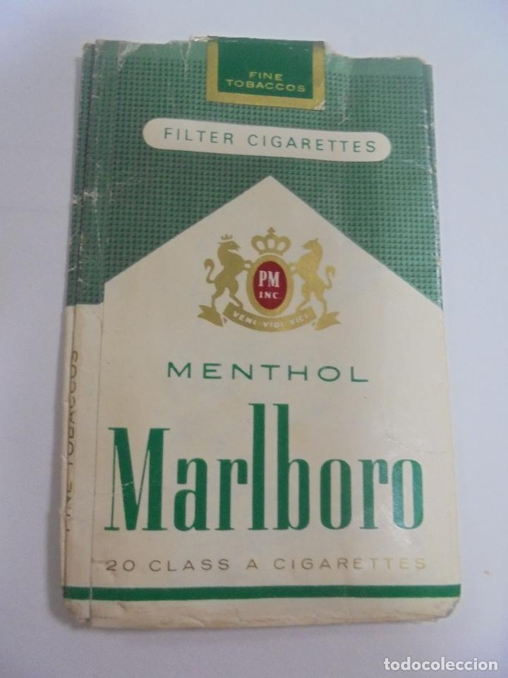 Paquetes de tabaco: PAQUETE DE TABACO. MARCA MALBORO MENTHOL. VACIO. VER FOTOS - Foto 2 - 112849675