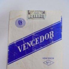 Paquetes de tabaco: PAQUETE DE TABACO. MARCA VENCEDOR Nº 1. VACIO. VER FOTOS. Lote 112849927