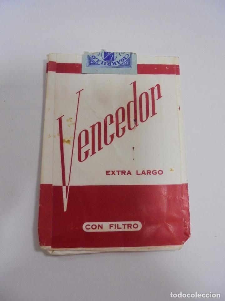 PAQUETE DE TABACO. MARCA VENCEDOR. EXTRA LARGO CON FILTRO. VACIO. VER FOTOS (Coleccionismo - Objetos para Fumar - Paquetes de tabaco)