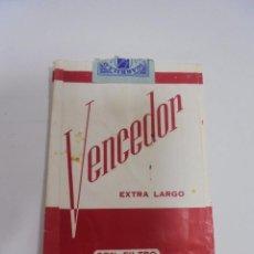 Paquetes de tabaco: PAQUETE DE TABACO. MARCA VENCEDOR. EXTRA LARGO CON FILTRO. VACIO. VER FOTOS. Lote 112849955