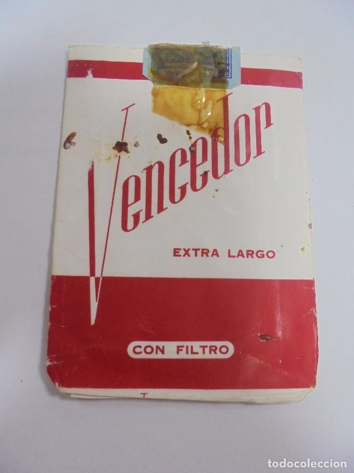 Paquetes de tabaco: PAQUETE DE TABACO. MARCA VENCEDOR. EXTRA LARGO CON FILTRO. VACIO. VER FOTOS - Foto 2 - 112849955