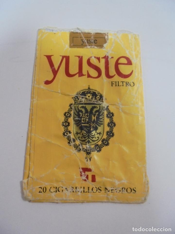 PAQUETE DE TABACO. MARCA YUSTE. FILTRO. CIGARROS NEGROS. VACIO. VER FOTOS (Coleccionismo - Objetos para Fumar - Paquetes de tabaco)