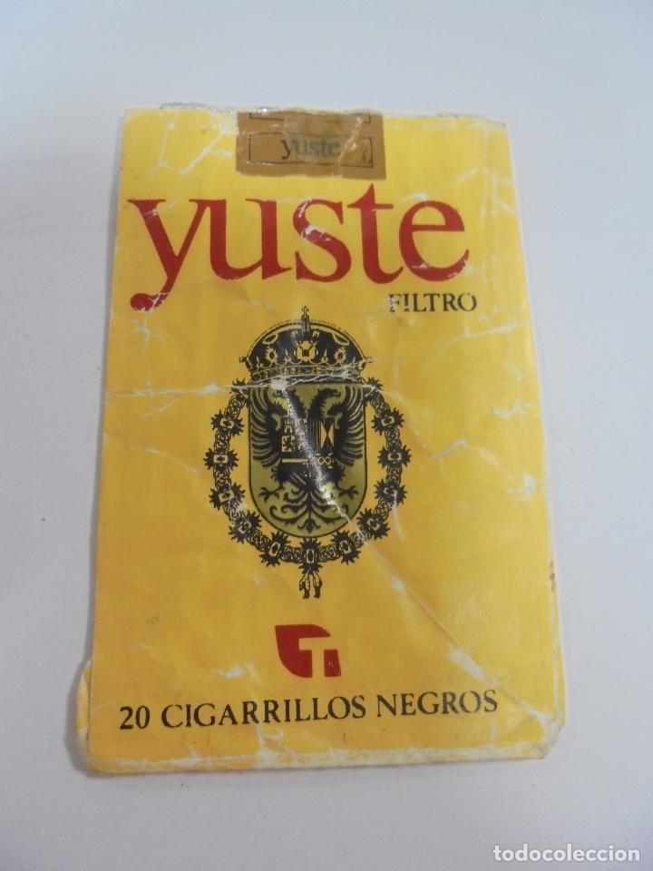 Paquetes de tabaco: PAQUETE DE TABACO. MARCA YUSTE. FILTRO. CIGARROS NEGROS. VACIO. VER FOTOS - Foto 2 - 112850491