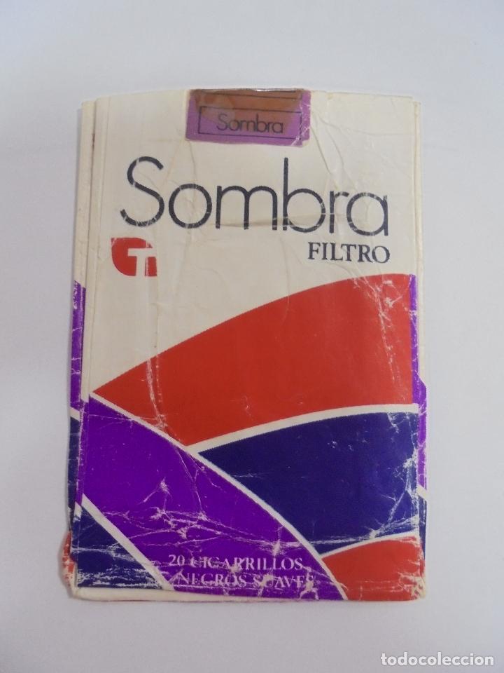 PAQUETE DE TABACO. MARCA SOMBRA FILTRO. NEGROS SUAVES. VACIO. VER FOTOS (Coleccionismo - Objetos para Fumar - Paquetes de tabaco)