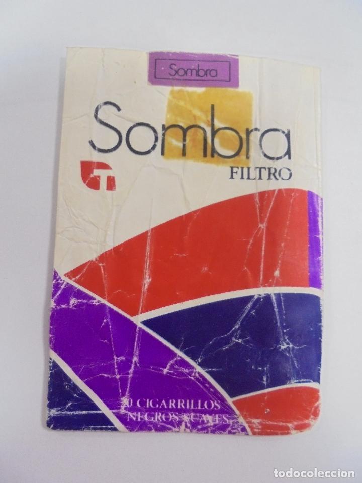 Paquetes de tabaco: PAQUETE DE TABACO. MARCA SOMBRA FILTRO. NEGROS SUAVES. VACIO. VER FOTOS - Foto 2 - 112851267