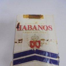 Paquetes de tabaco: PAQUETE DE TABACO. MARCA HABANOS. LARGOS CON FILTRO. VACIO. VER FOTOS. Lote 112876599