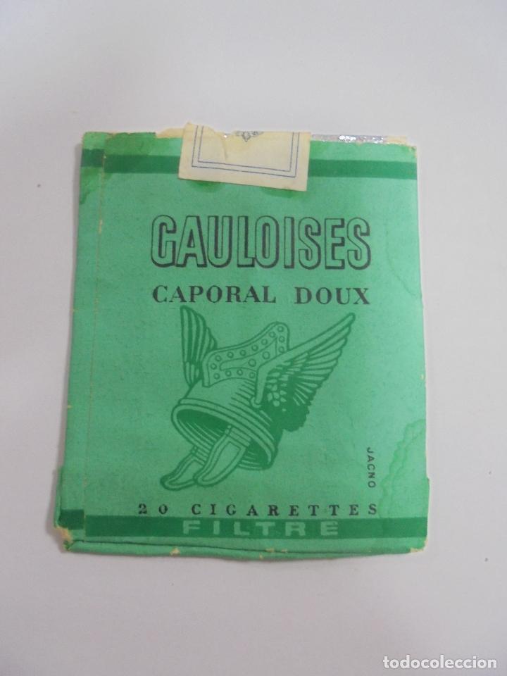 Paquetes de tabaco: PAQUETE DE TABACO. MARCA GAULOISES CAPORAL DOUX. VACIO. VER FOTOS - Foto 2 - 112949779