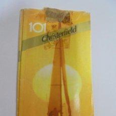Paquetes de tabaco: PAQUETE DE TABACO. MARCA CHESTERFIELD 101. VACIO. VER FOTOS. Lote 112950023
