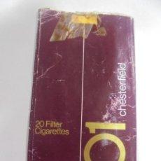 Paquetes de tabaco: PAQUETE DE TABACO. MARCA CHESTERFIELD 101. U.S.A. VACIO. VER FOTOS. Lote 112950047