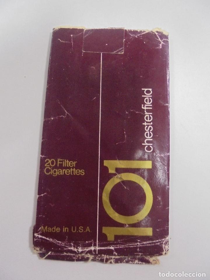 Paquetes de tabaco: PAQUETE DE TABACO. MARCA CHESTERFIELD 101. U.S.A. VACIO. VER FOTOS - Foto 2 - 112950047