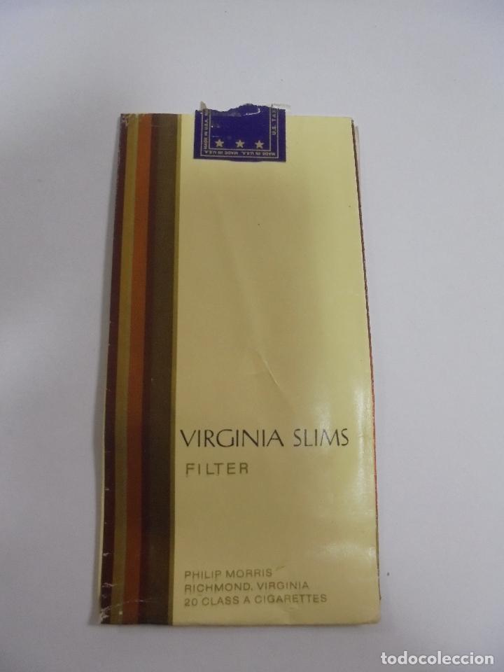 Paquetes de tabaco: PAQUETE DE TABACO. MARCA VIRGINIA SLIMS. FILTER. VACIO. VER FOTOS - Foto 2 - 112950147