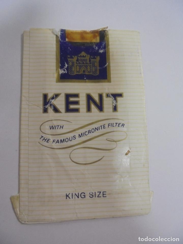 PAQUETE DE TABACO. MARCA KENT. KING SIZE. VACIO. VER FOTOS (Coleccionismo - Objetos para Fumar - Paquetes de tabaco)