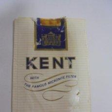 Paquetes de tabaco: PAQUETE DE TABACO. MARCA KENT. KING SIZE. VACIO. VER FOTOS. Lote 112950223
