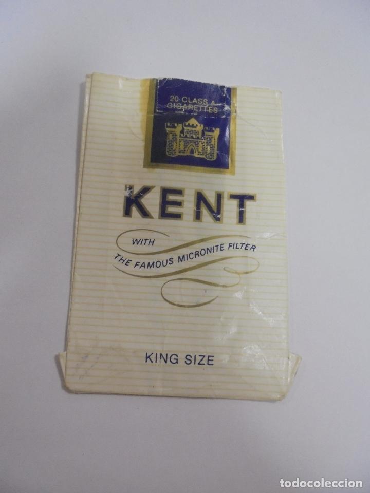 Paquetes de tabaco: PAQUETE DE TABACO. MARCA KENT. KING SIZE. VACIO. VER FOTOS - Foto 2 - 112950223