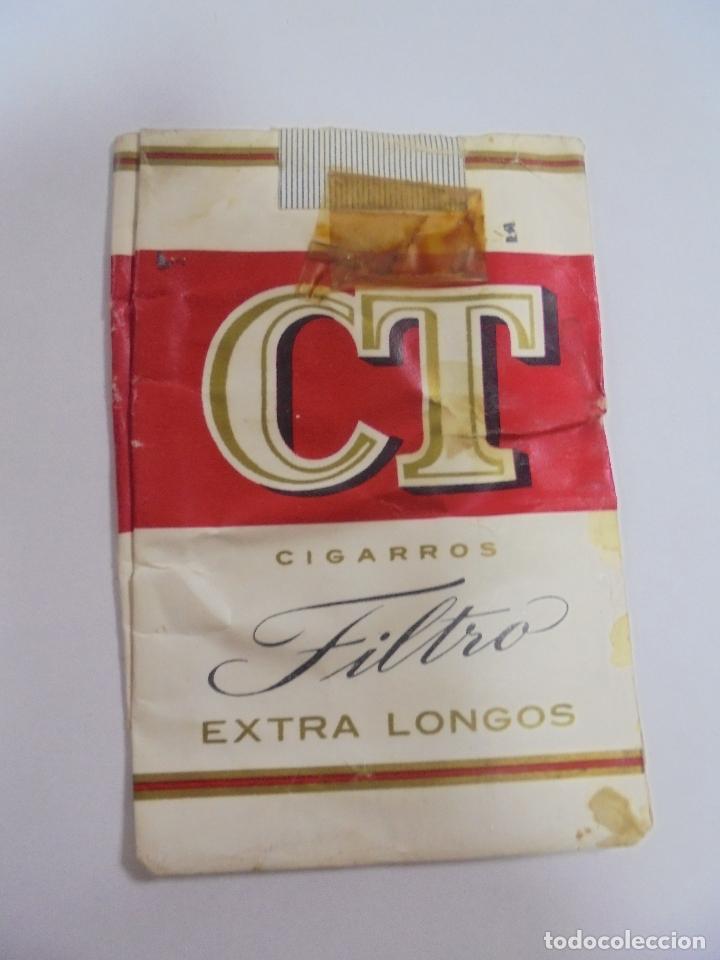 PAQUETE DE TABACO. MARCA CT FILTRO EXTRA LONGOS. VACIO. VER FOTOS (Coleccionismo - Objetos para Fumar - Paquetes de tabaco)