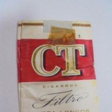 Paquetes de tabaco: PAQUETE DE TABACO. MARCA CT FILTRO EXTRA LONGOS. VACIO. VER FOTOS. Lote 112950451