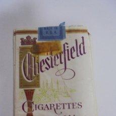 Paquetes de tabaco: PAQUETE DE TABACO. MARCA CHESTERFIELD. U.S.A. VACIO. VER FOTOS. Lote 112950483