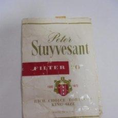 Paquetes de tabaco: PAQUETE DE TABACO. MARCA PETER STUYVESANT FILTER. VACIO. VER FOTOS. Lote 112950611