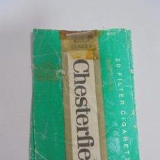 Paquetes de tabaco: PAQUETE DE TABACO. MARCA CHESTERFIELD. MENTHOL. VACIO. VER FOTOS. Lote 112950899