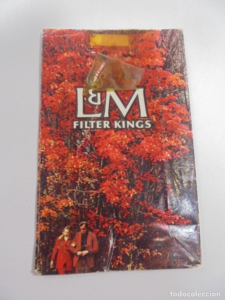 PAQUETE DE TABACO. MARCA L&M FILTER KINGS. VACIO. VER FOTOS (Coleccionismo - Objetos para Fumar - Paquetes de tabaco)