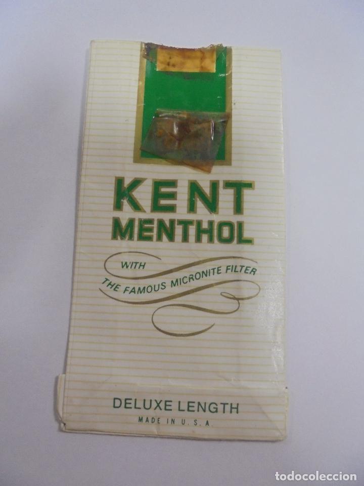 PAQUETE DE TABACO. MARCA KENT MENTHOL. DELUXE LENGTH. VACIO. VER FOTOS (Coleccionismo - Objetos para Fumar - Paquetes de tabaco)