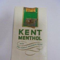 Paquetes de tabaco: PAQUETE DE TABACO. MARCA KENT MENTHOL. DELUXE LENGTH. VACIO. VER FOTOS. Lote 112951519