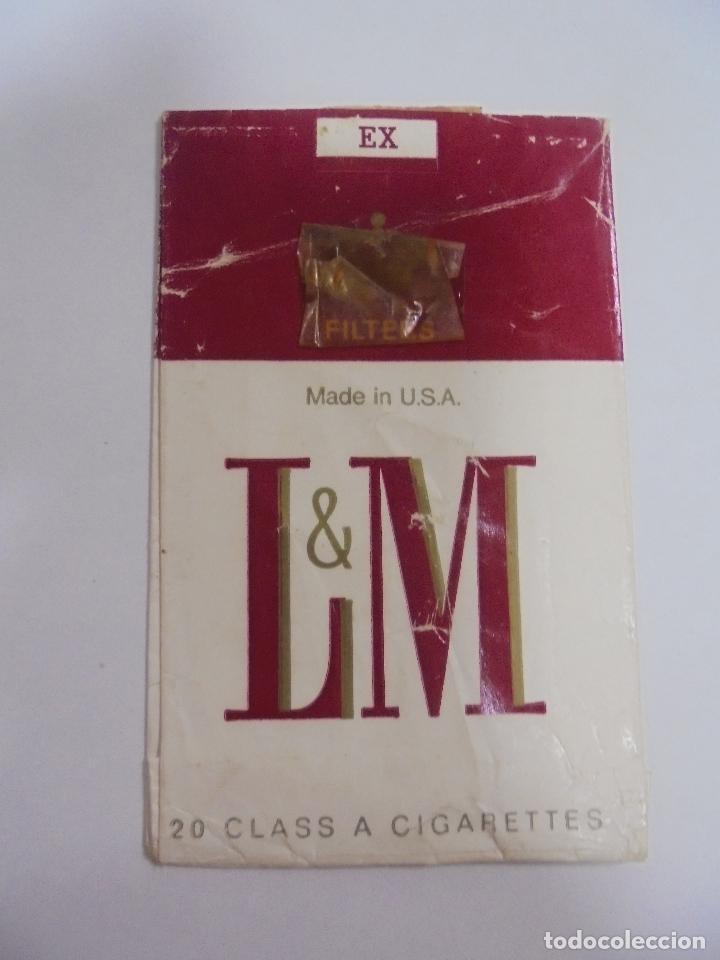PAQUETE DE TABACO. MARCA L&M EX. U.S.A. VACIO. VER FOTOS (Coleccionismo - Objetos para Fumar - Paquetes de tabaco)