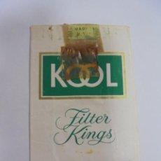 Paquetes de tabaco: PAQUETE DE TABACO. MARCA KOOL MENTHOL. FILTER KINGS. VACIO. VER FOTOS. Lote 112952083