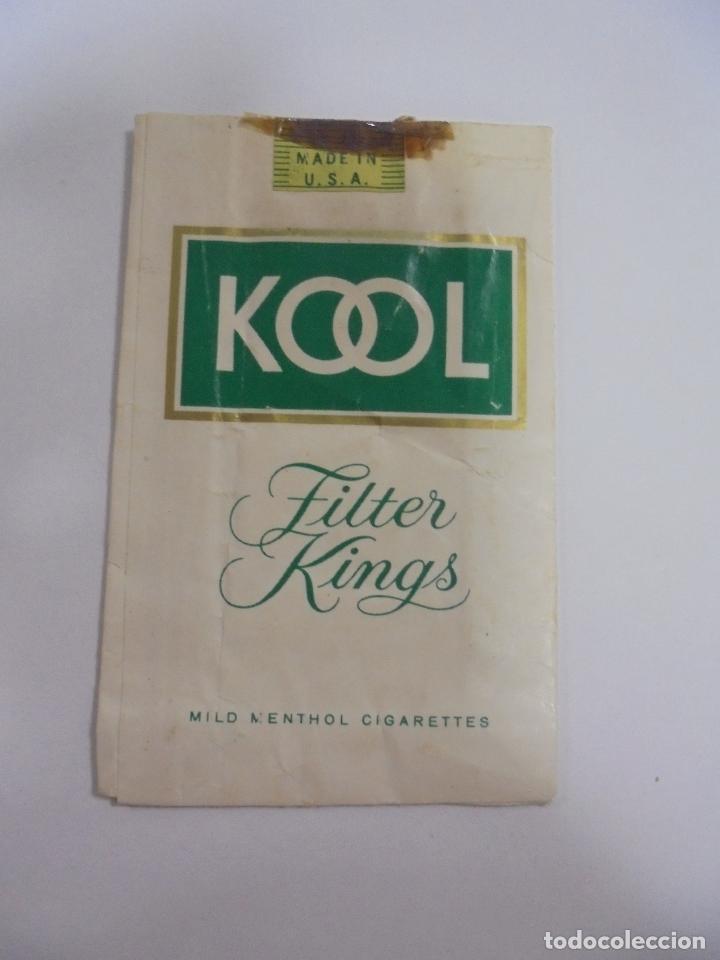 Paquetes de tabaco: PAQUETE DE TABACO. MARCA KOOL MENTHOL. FILTER KINGS. VACIO. VER FOTOS - Foto 2 - 112952083
