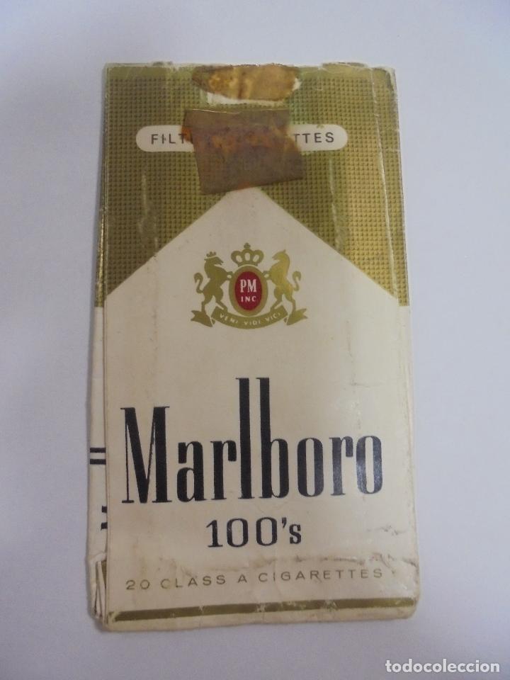 PAQUETE DE TABACO. MARCA MALBORO 100'S. VACIO. VER FOTOS (Coleccionismo - Objetos para Fumar - Paquetes de tabaco)