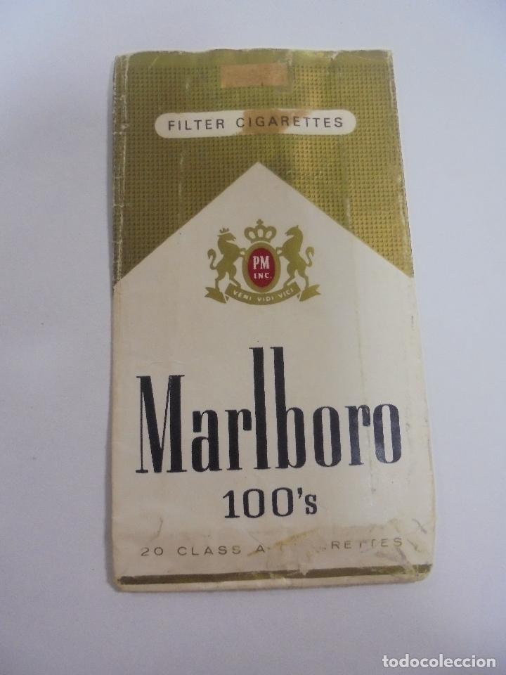 Paquetes de tabaco: PAQUETE DE TABACO. MARCA MALBORO 100S. VACIO. VER FOTOS - Foto 2 - 112952115