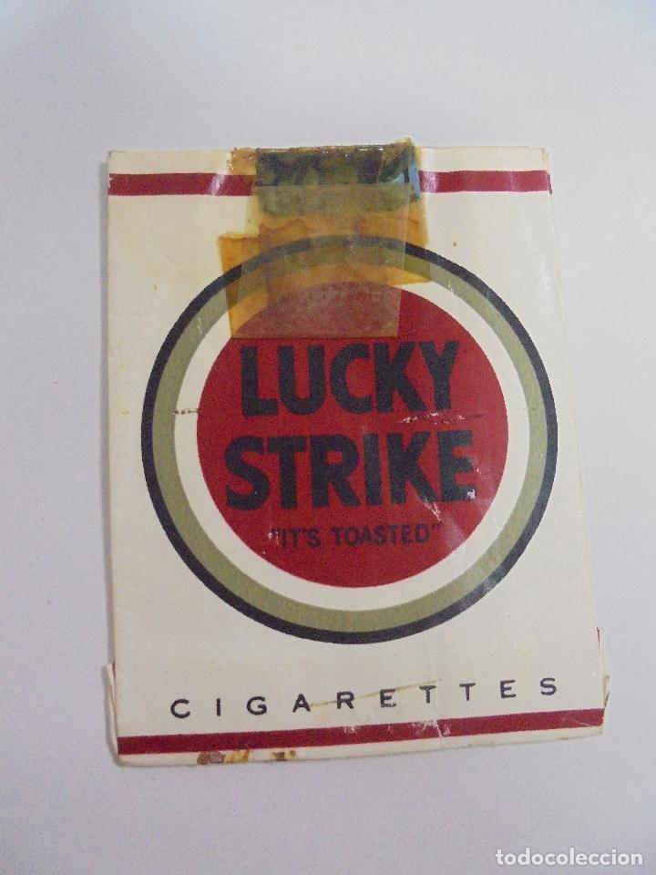 Paquetes de tabaco: PAQUETE DE TABACO. MARCA LUCKY STRIKE. VACIO. VER FOTOS - Foto 2 - 112952391
