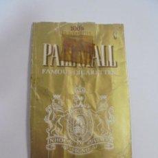 Paquetes de tabaco: PAQUETE DE TABACO. MARCA PALL MALL. FILTER TIPPED. VACIO. VER FOTOS. Lote 112952439