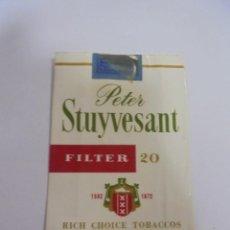 Paquetes de tabaco: PAQUETE DE TABACO. MARCA PETER STUYVESANT FILTER. VACIO. VER FOTOS. Lote 112952487
